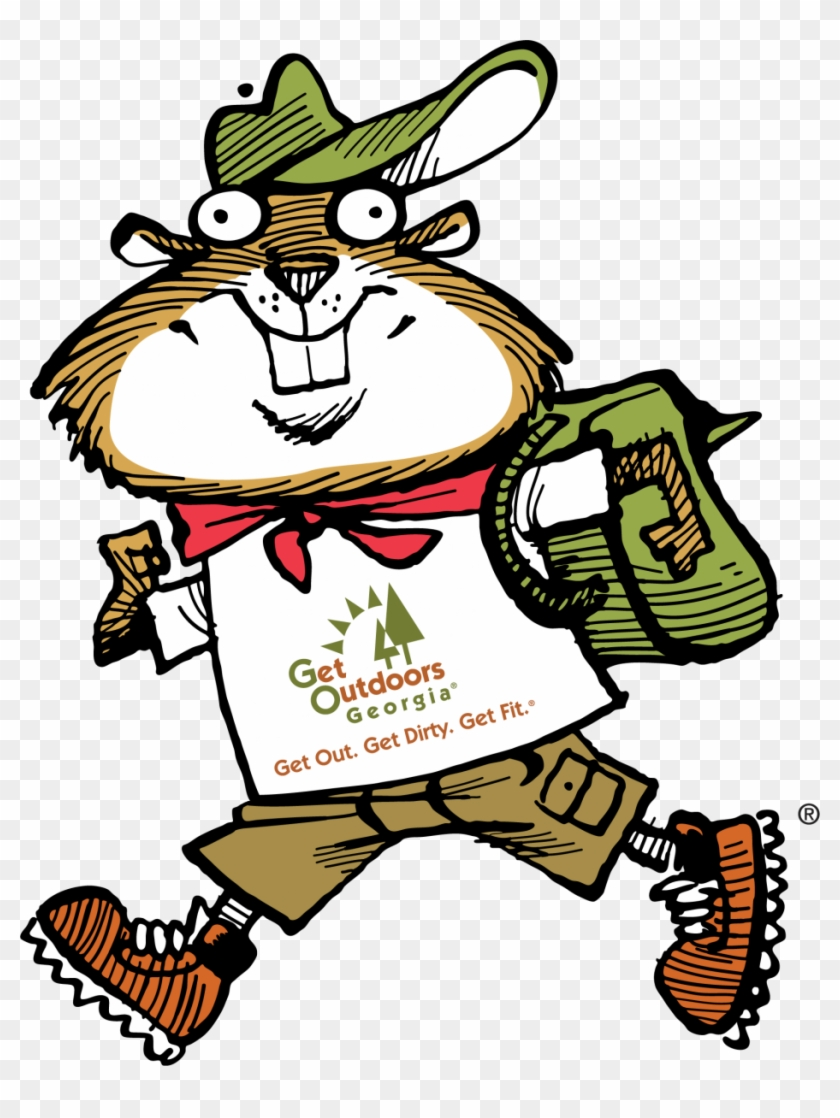 Hiking Gopher - Ga State Parks Logo Clipart #5361164