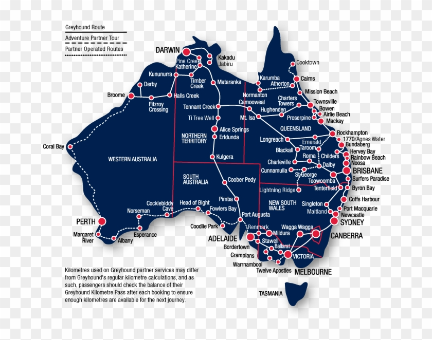 East Coast Map Of Australia.Map Of The Popular Routes Traveling Around Australia East