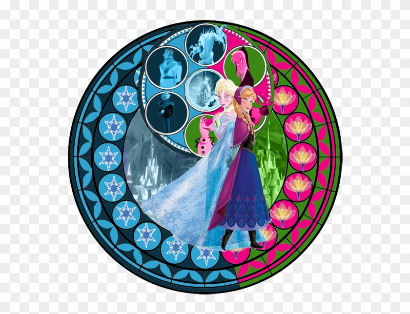 Clip Art - - Kingdom Hearts Stained Glass Anna, HD Png Download #5381132