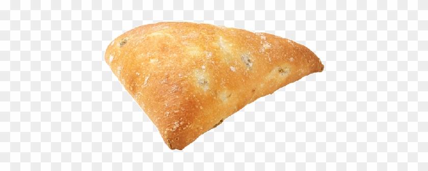 Pre-baked Mini Triangle Bread With Green Olives - Potato Bread Clipart #542146