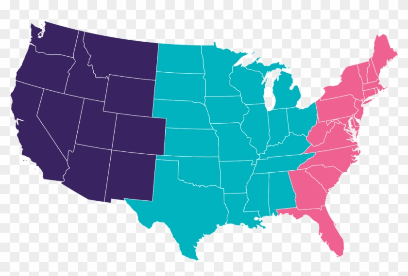 Us Map - United States North And South Map Clipart #545872