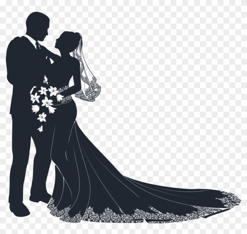 Png Image Information - Wedding Couple Vector Png Clipart #546444