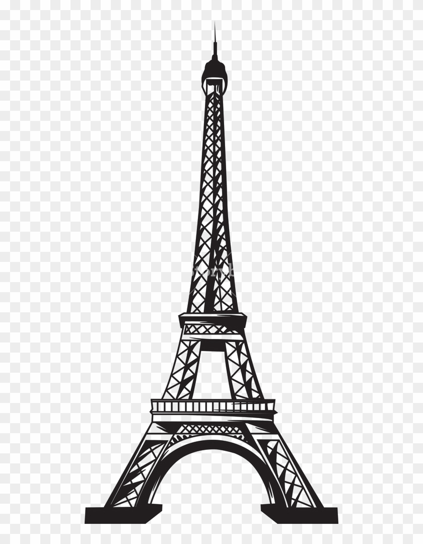Eiffel Tower Transparent Background Png - Eiffel Tower Vector Png Clipart #548944