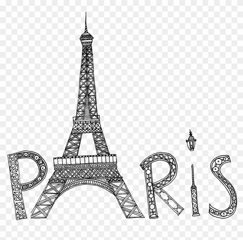 Eiffel Tower Silhouette Png Transparent Image - Dessin Tour Eiffel A Imprimer Clipart@pikpng.com