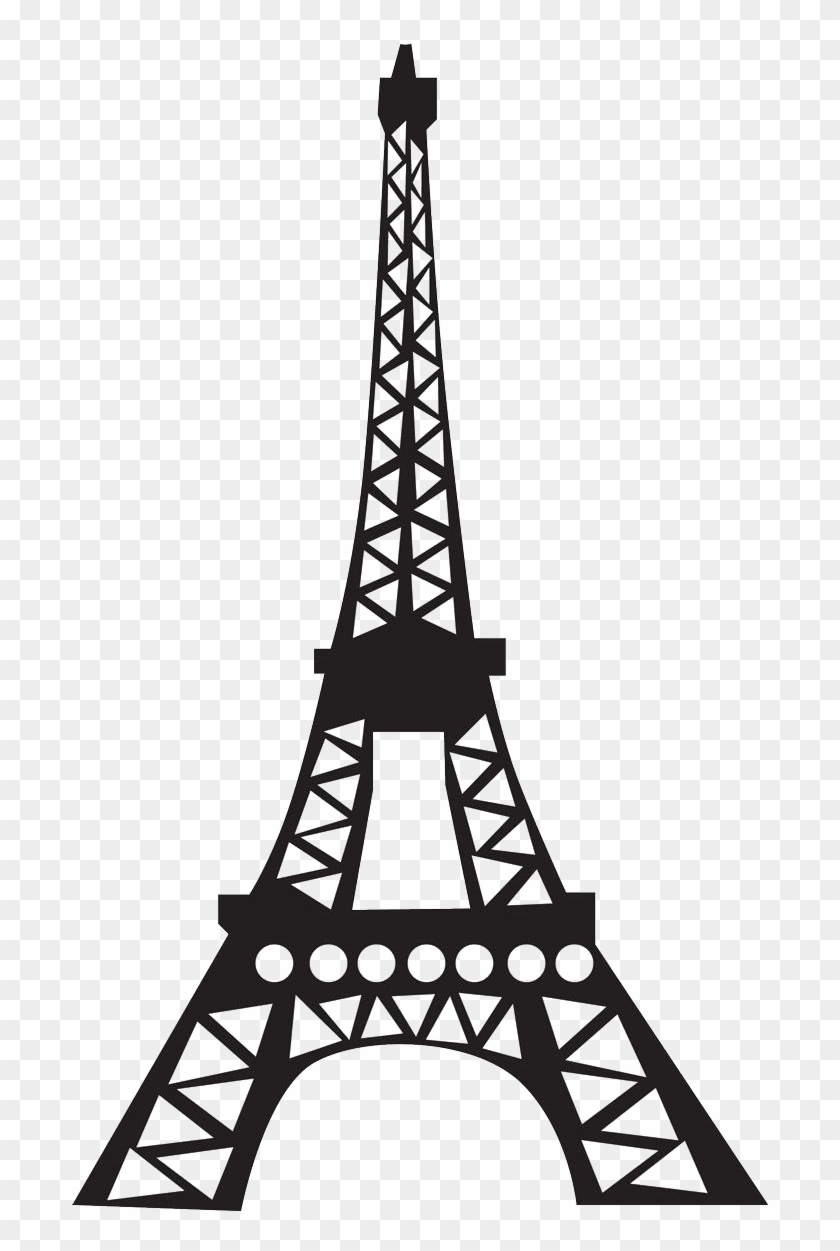 Eiffel Tower Silhouette Png High-quality Image - Paris Eiffel Tower Template Clipart #549337