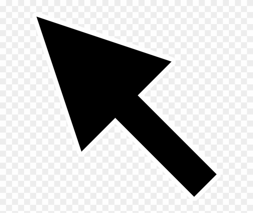 Computer Mouse Pointer Cursor Clip Art - Arrow Computer Vector - Png Download #549433