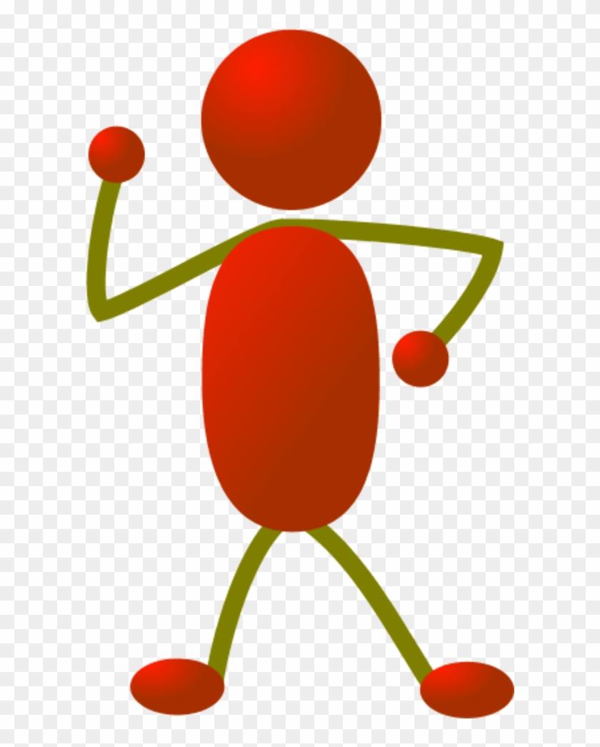 Stick Man Figure Dancing - Stick Figure Clipart Color - Png Download #549464