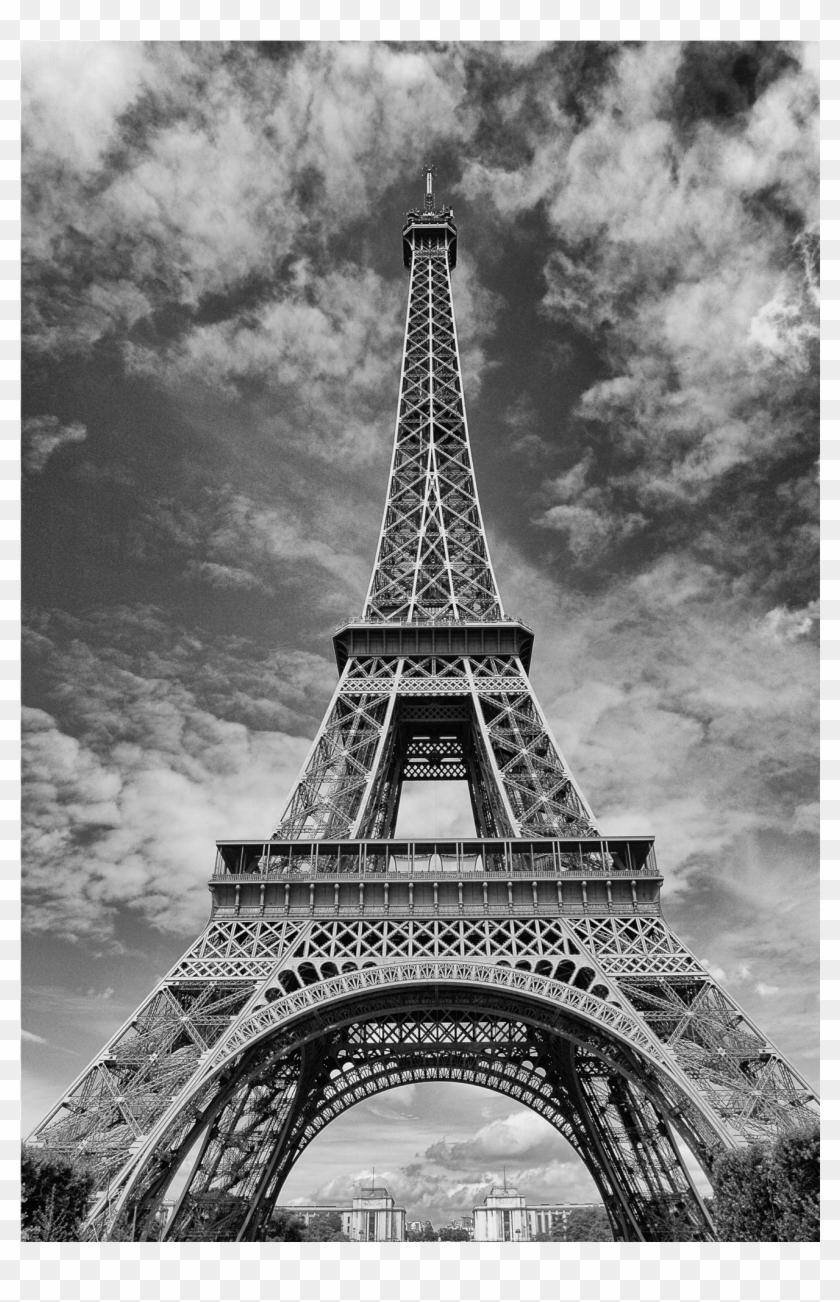 Black And White Eiffel Tower Imagio Glass - Eiffel Tower Clipart #549496