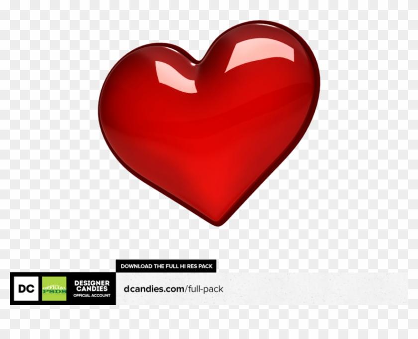 Share This Image - Coração 3d Render Clipart #5403714