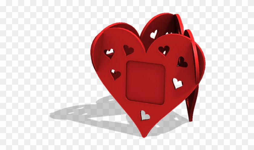 Heart Photo Frame 3d Model Stl - Hd Photo Frame 3d Png Clipart #5403803