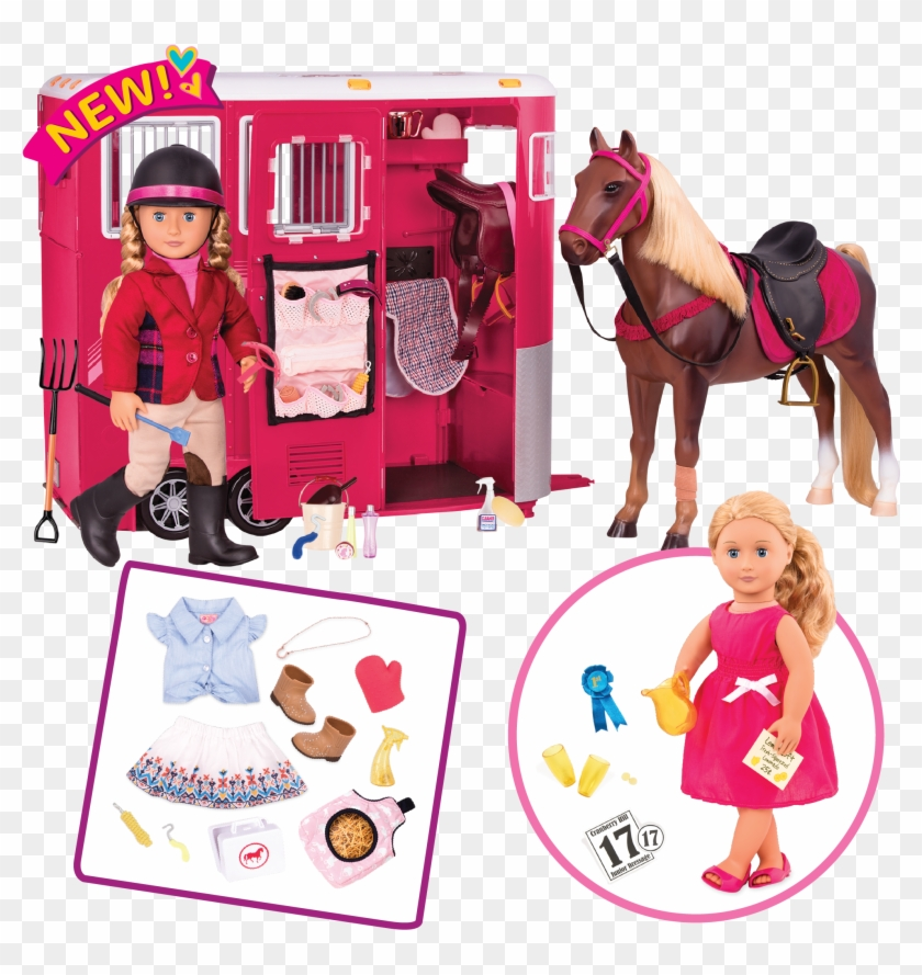 Riding Bundle Set All Components - Our Generation Doll And Horse Clipart #5405403