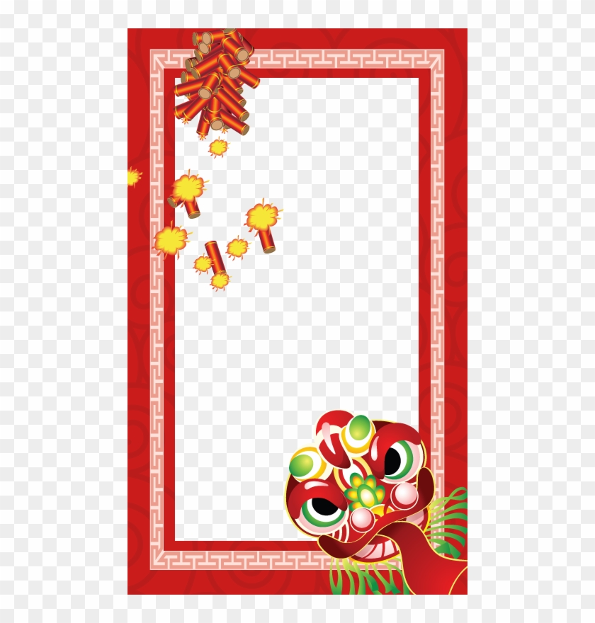 Chinese New Year Photo Frame Png - Chinese New Year Frame Clipart #5405883