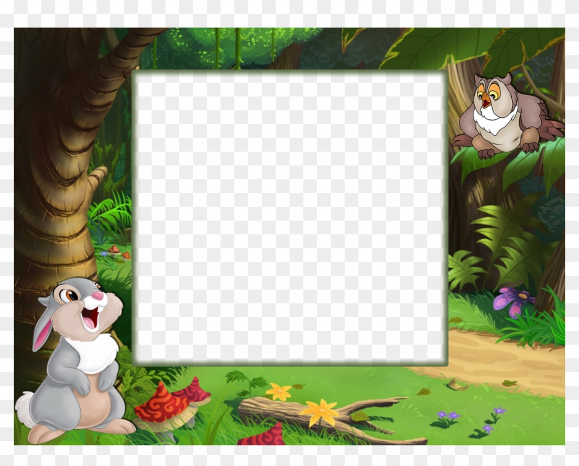See Here Clip Art Borders And Frames Free Images - Kids Photo Frame Png Transparent Png #5406460