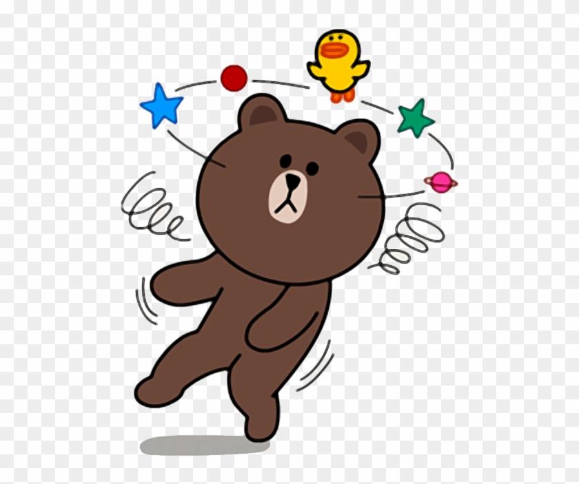 Sticker Brown Line Friends Clipart (#5415768) - PikPng