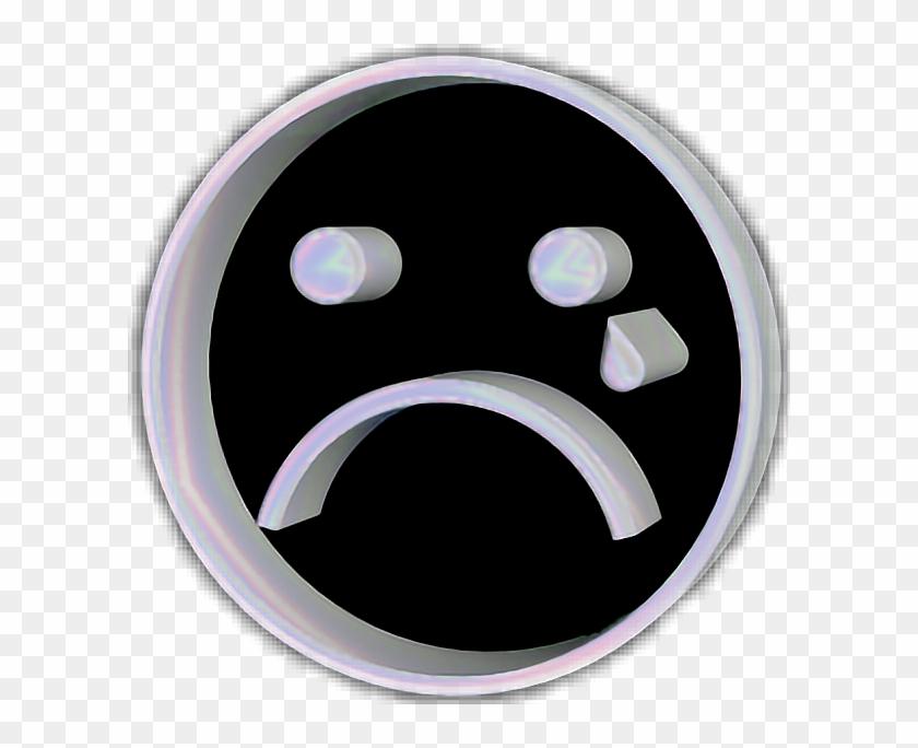 #sad #sc #snapchat #sticker #emoji #face #tumblr #holo - Circle Clipart #5422613