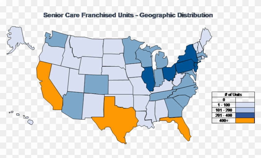 Business Is Booming For Senior Care Franchise - States Where Donald Trump Is President Map Clipart #5423205