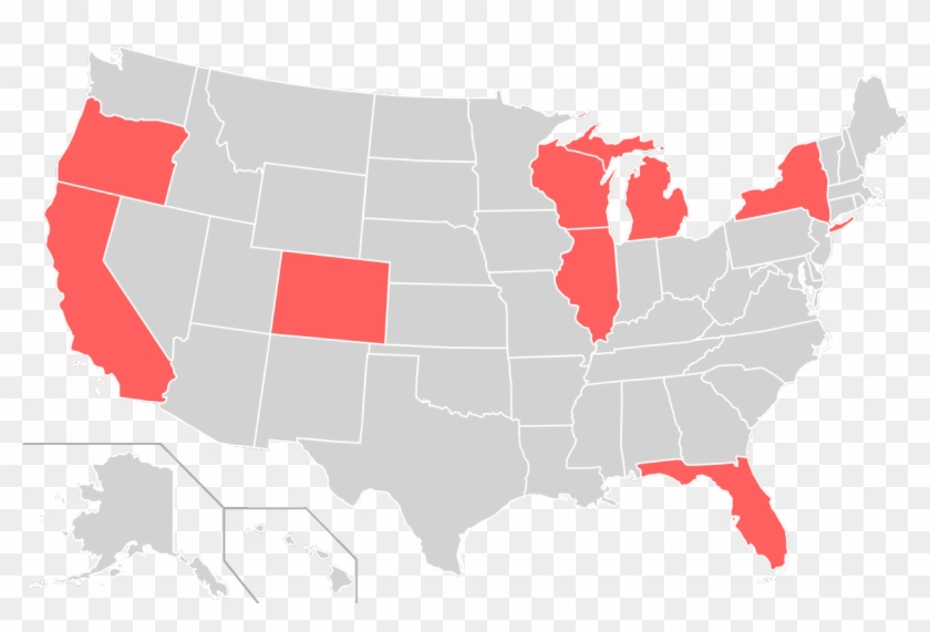 Home States Of Socialist Party Of The United States - Animated Map Of Us Clipart #5423288