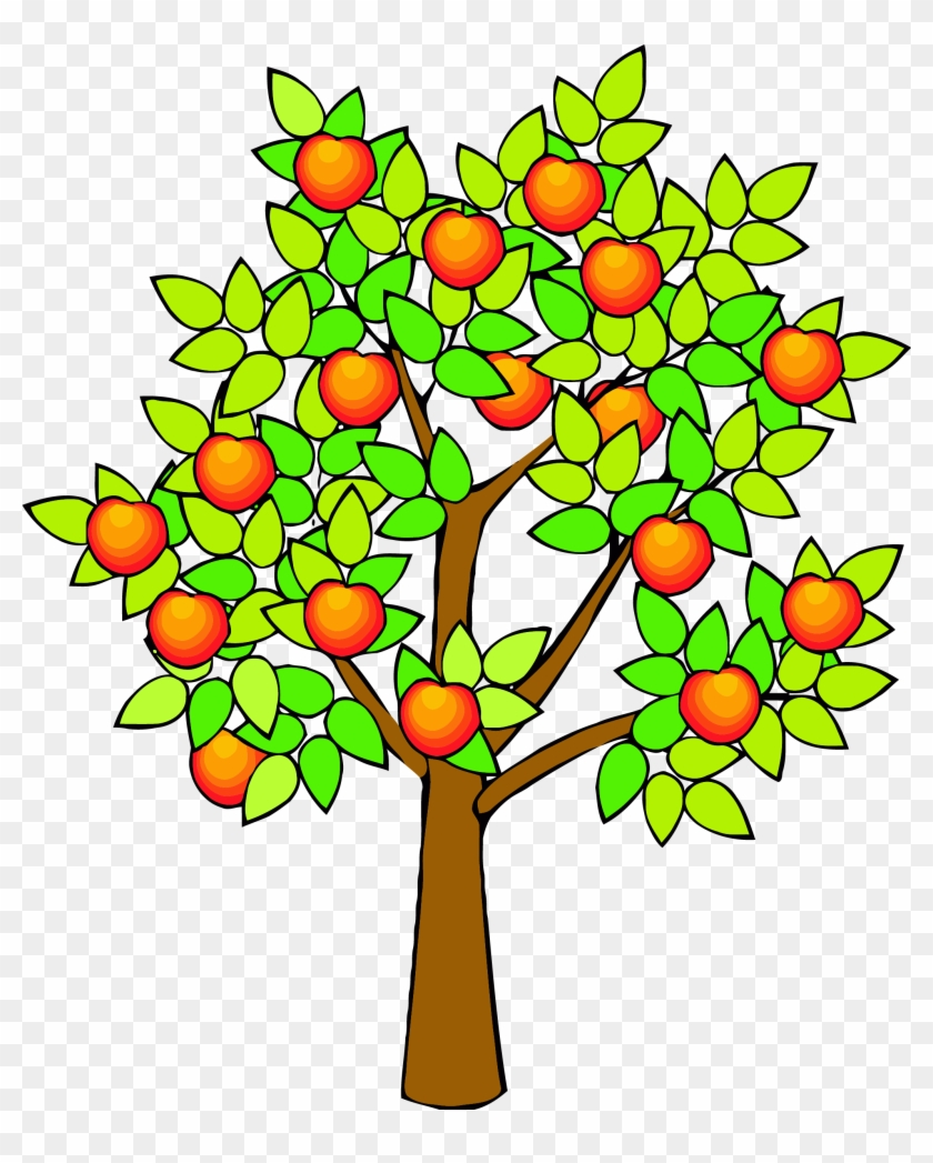 Spring Green Tree Clipart Png - Tree Clipart With Fruits Transparent Png #5430538