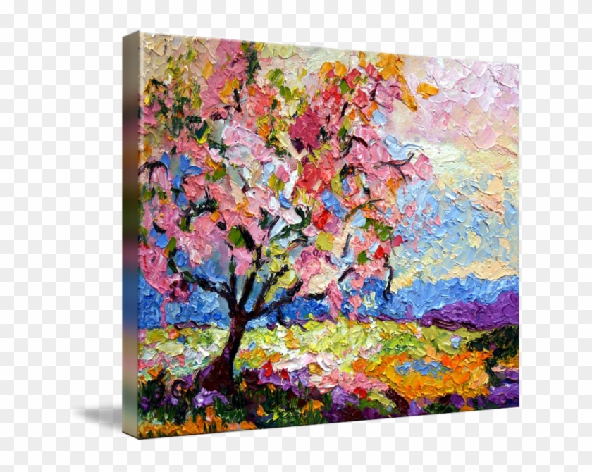 Acrylic Drawing Spring Season - Blossom Tree Painting Clipart #5430863