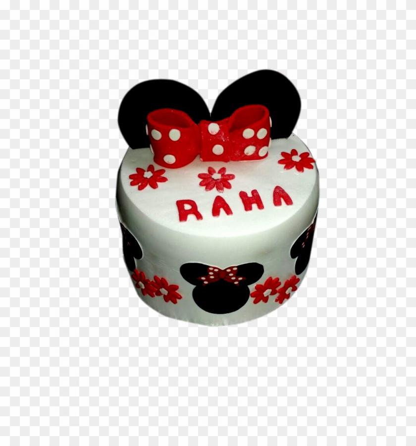 Medium Size Of Minnie Mouse Cake 2 Kg Ndash Letorta - Birthday Cake Clipart #5430900