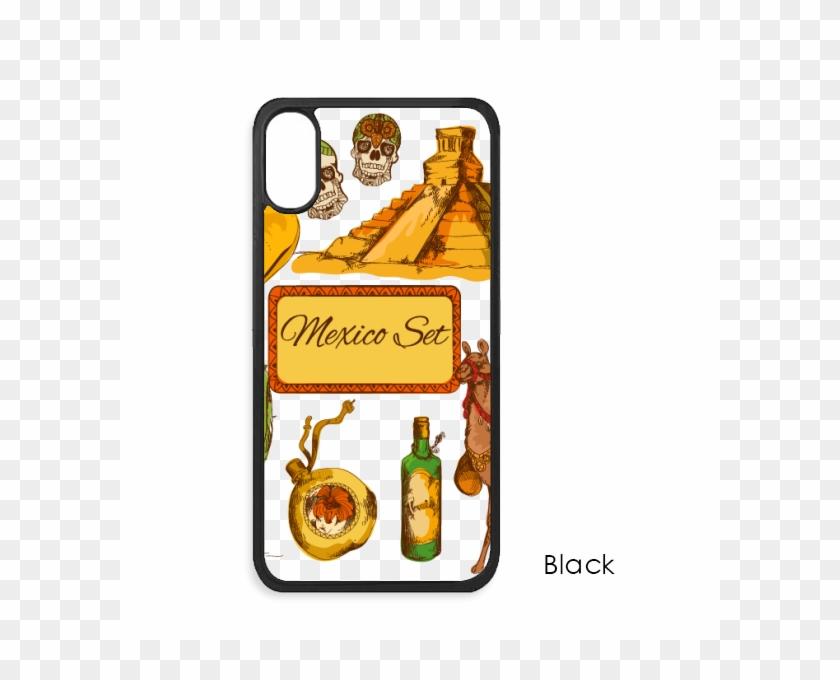 Sombrero Mexico Pyramid Desert Cactus Mexican For Iphone - Mobile Phone Case Clipart #5436504