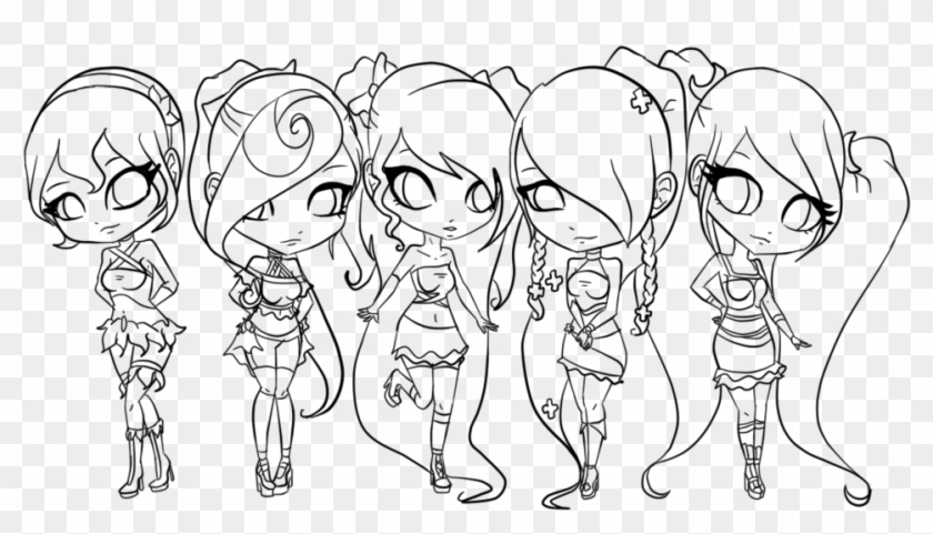 Group Chibi Girl Base Clipart 5437715 Pikpng Three chibis base 2 by khl1 on deviantart. group chibi girl base clipart 5437715