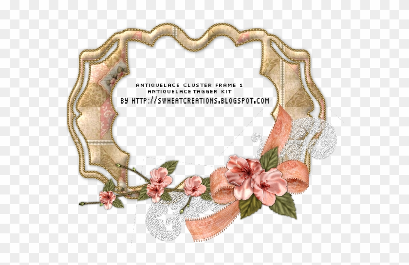 Free Vintage Lace Border Png - Floral Design Clipart #5439414
