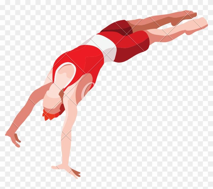 Gymnast Vector Gymnastics Vault - Gymnastics Artistics Vault Logo Clipart #5441378