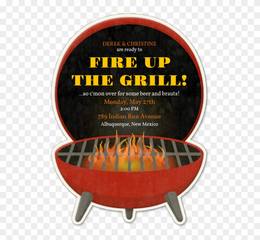Design Your Invitation Colored Envelopes, Bbq Party, - Firing Up The Grill Clipart #5451677