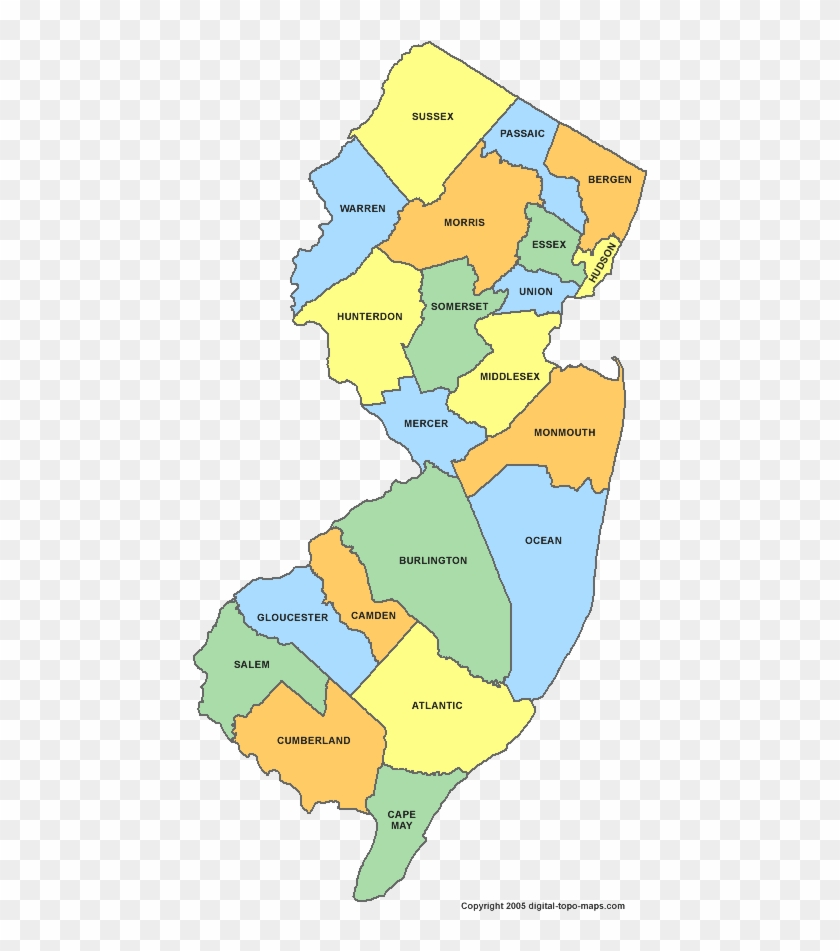A Review Of The Legal Framework For County Planning - Printable New Jersey County Map Clipart #5453076