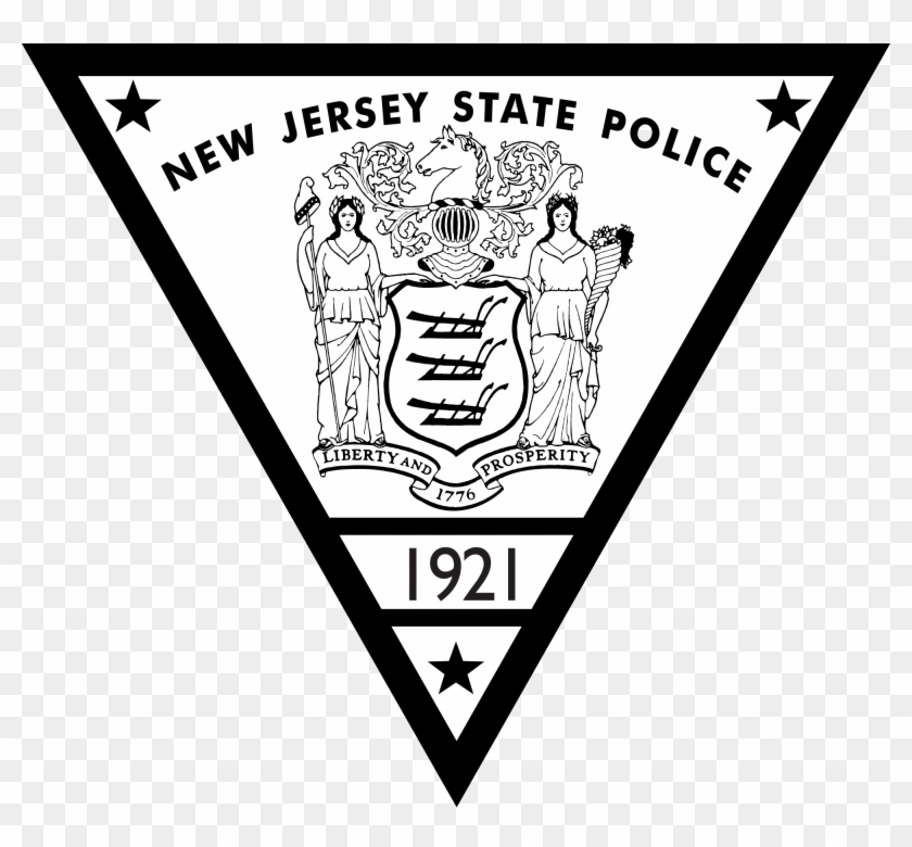 File New State Police Seal Svg Wikimedia - New Jersey State Trooper Badge Clipart #5453365