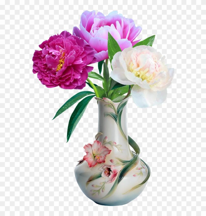 Fleur Vase - Porcelain Vase With Flowers Clipart #5455123