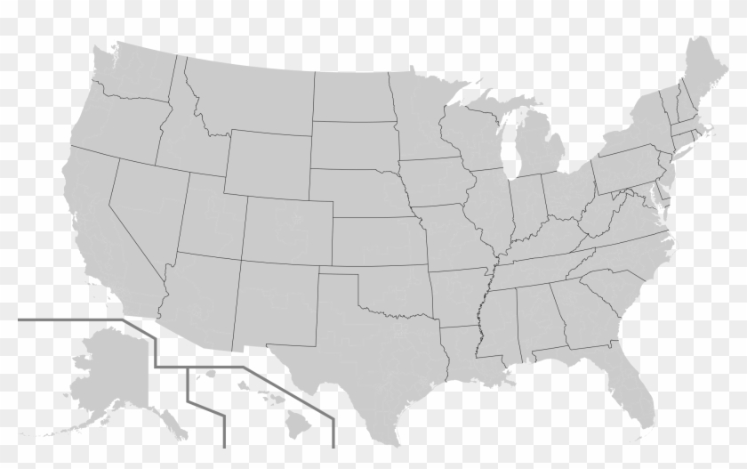 File Th U - Us House Of Rep District Map Clipart #5455876