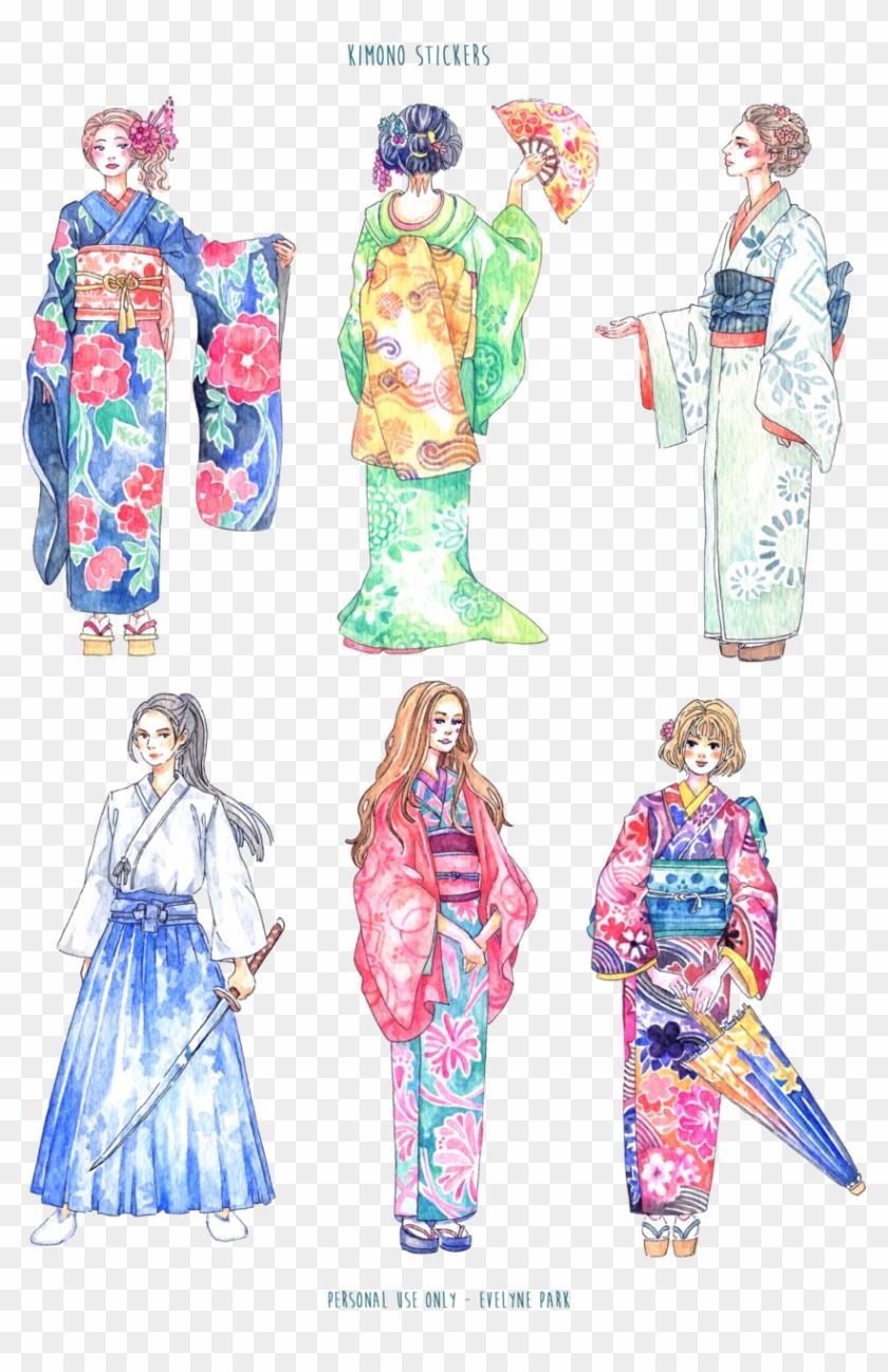 Kimono Us Printable - Printable Japanese Sticker Clipart #5459126
