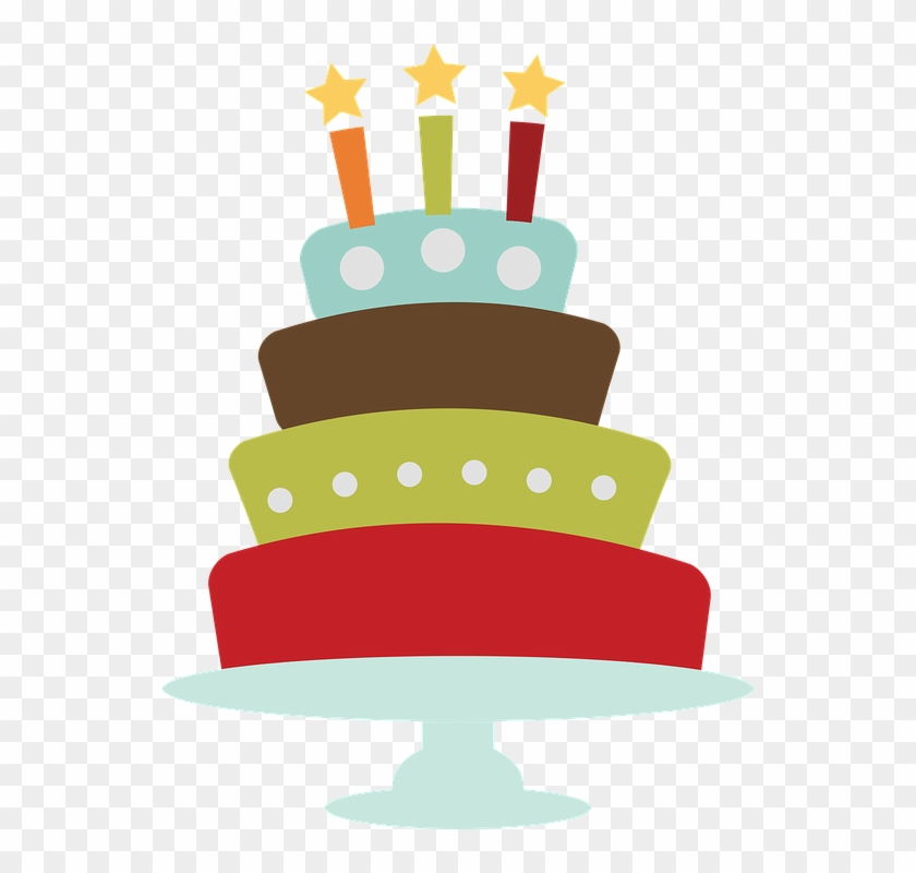 Birthday Cake Clip Art - Vintage Birthday Cake Png Transparent Png #5460679