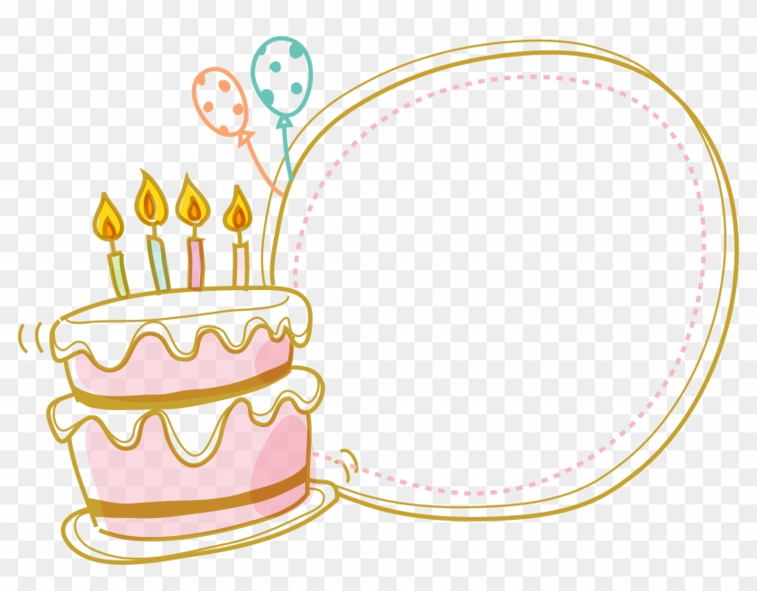 Cake Birthday Border Free Clipart Hq Clipart Cake Border Clipart Png Download 5460731 Pikpng