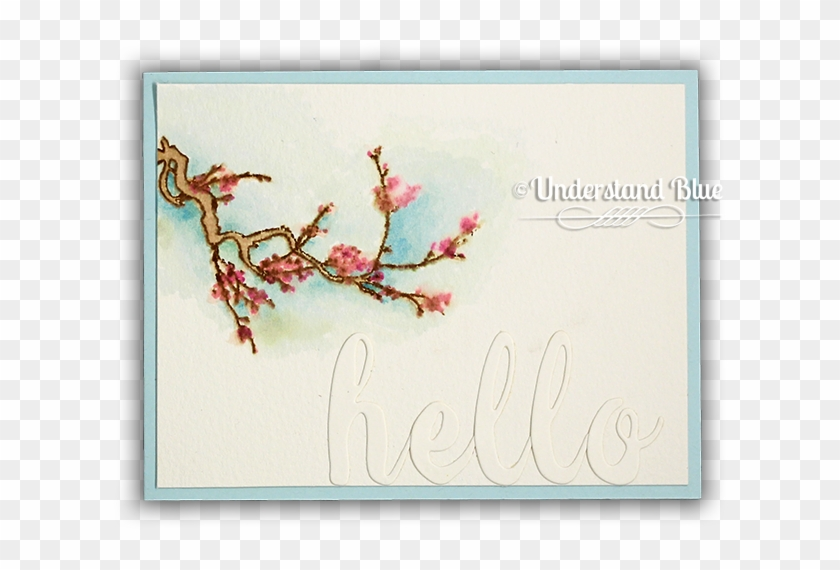 Under The Cherry Blossom Stamp & Die Bundle - Cherry Blossom Clipart #5461258
