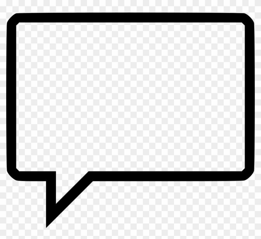 Speech Buble Comments - Rectangle Speech Bubble Png Clipart #5470725