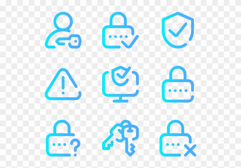 Internet Security - Icon Gradient Png Clipart #5475122