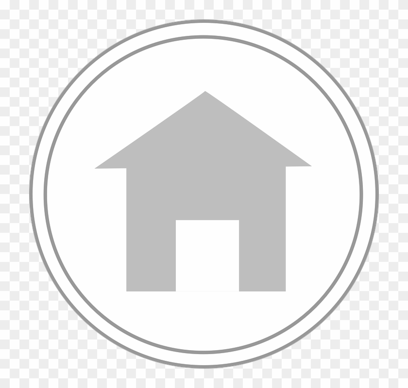 House Computer Home Symbol Circle Button - Circle Clipart #5487342