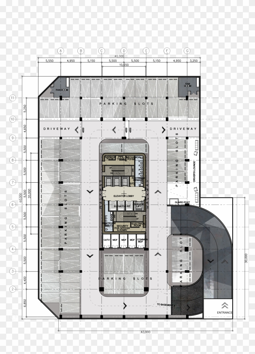 Commercial Building Floor Plans Png Multi Storey Car Parking Plan Clipart 5491972 Pikpng