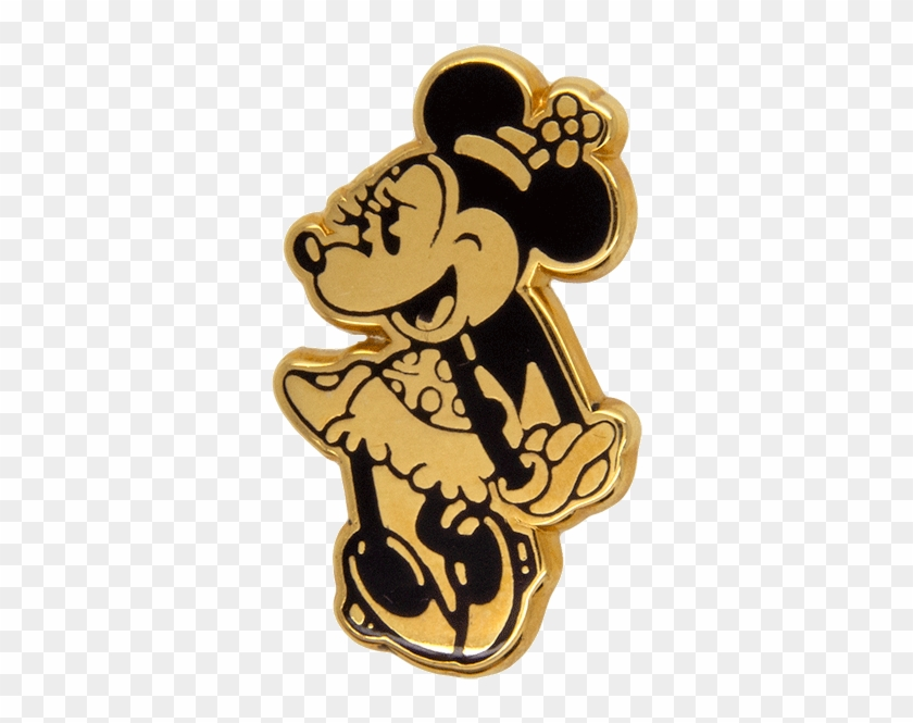 Minnie Mouse Pin , Gold - Minnie Mouse Gold Png Clipart #551011