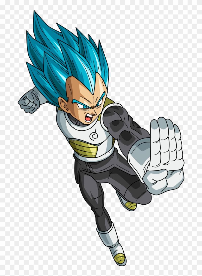 Dragon Ball Vegeta Png - Vegeta Blue Dragon Ball Super Clipart #555398