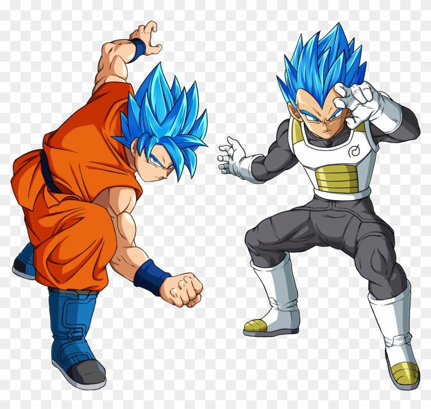 Goku And Vegeta Ssj God Ssj - Dragon Ball Super Poses Clipart #556296
