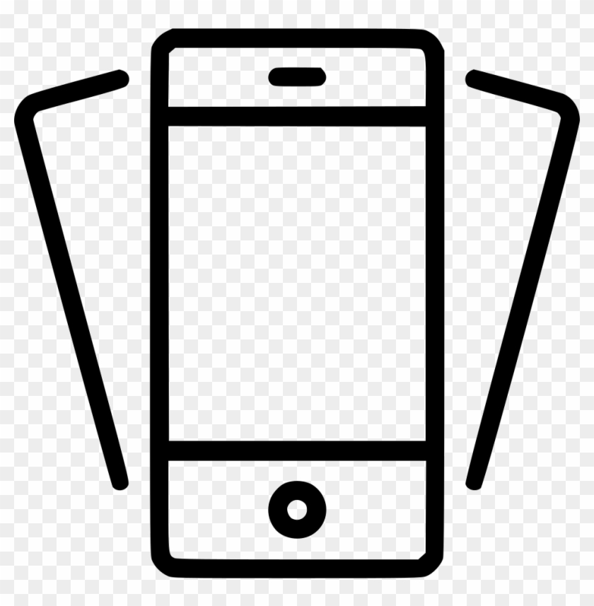 Tilt Phone Smartphone Mobile Device Iphone Svg Png - Mobile Device Icon Png Clipart #556804