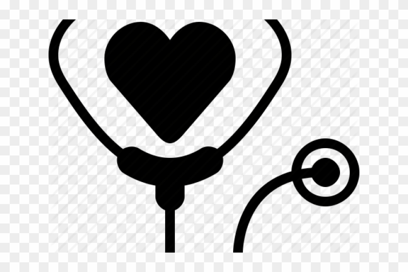 Stethoscope On Heart Icon Clipart 557395 Pikpng