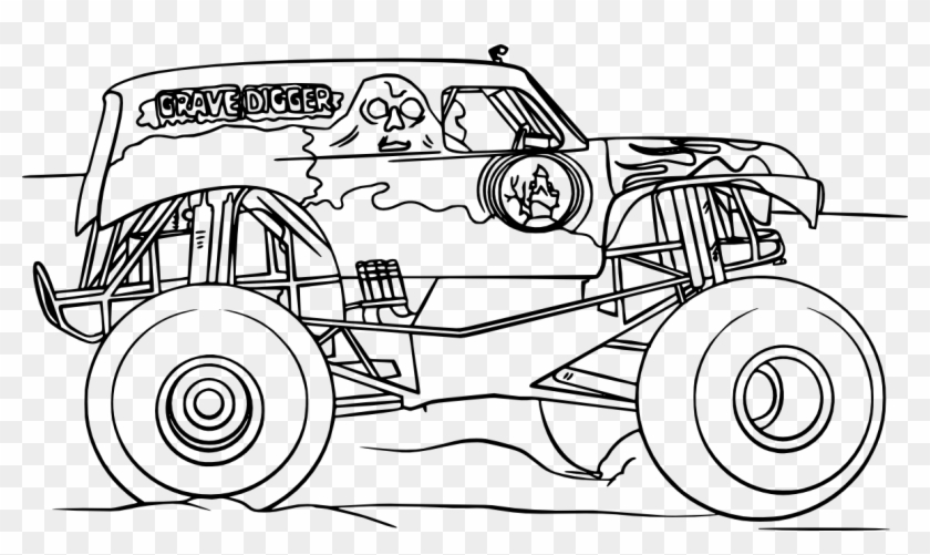 Grave Digger Monster Truck Vectors , Png Download - Grave ...