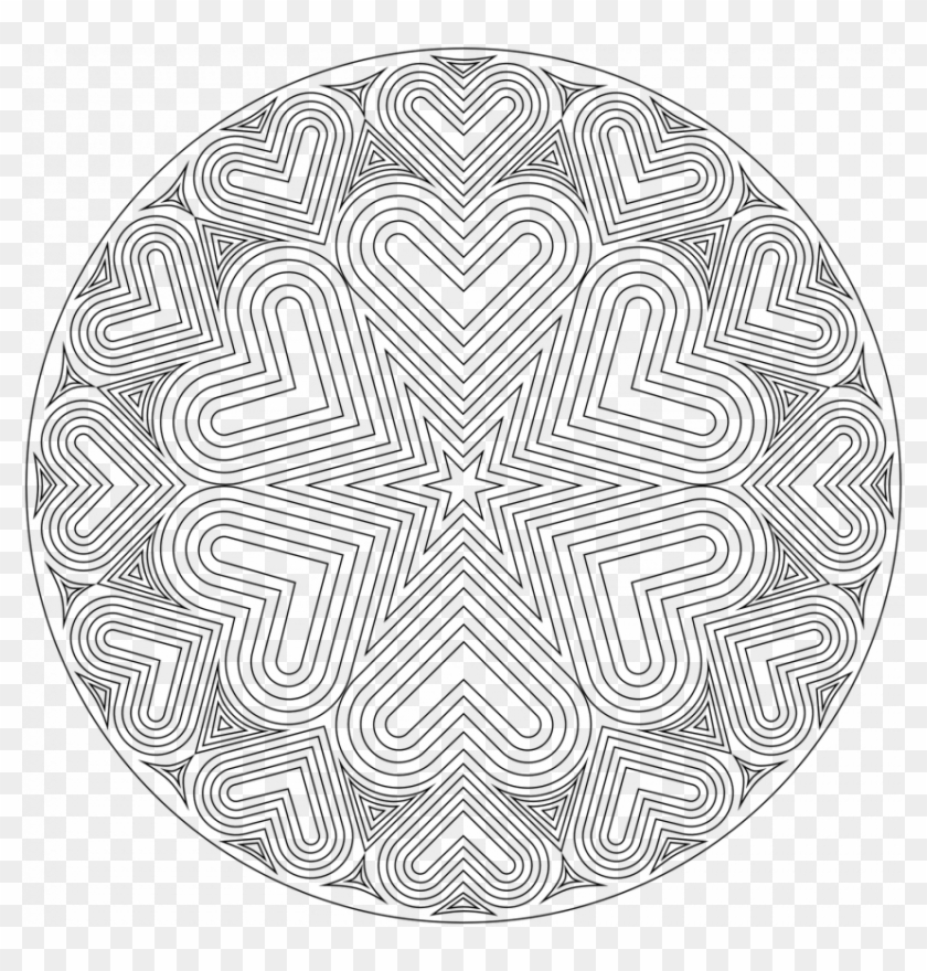 Complex Geometric Heart Coloring Pages Free Library Coloriage Mandala A Imprimer Cm1 Clipart 5509726 Pikpng