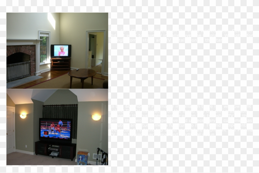 Some Installations Require Lcd Tv Installation On The - Living Room Clipart #5517714
