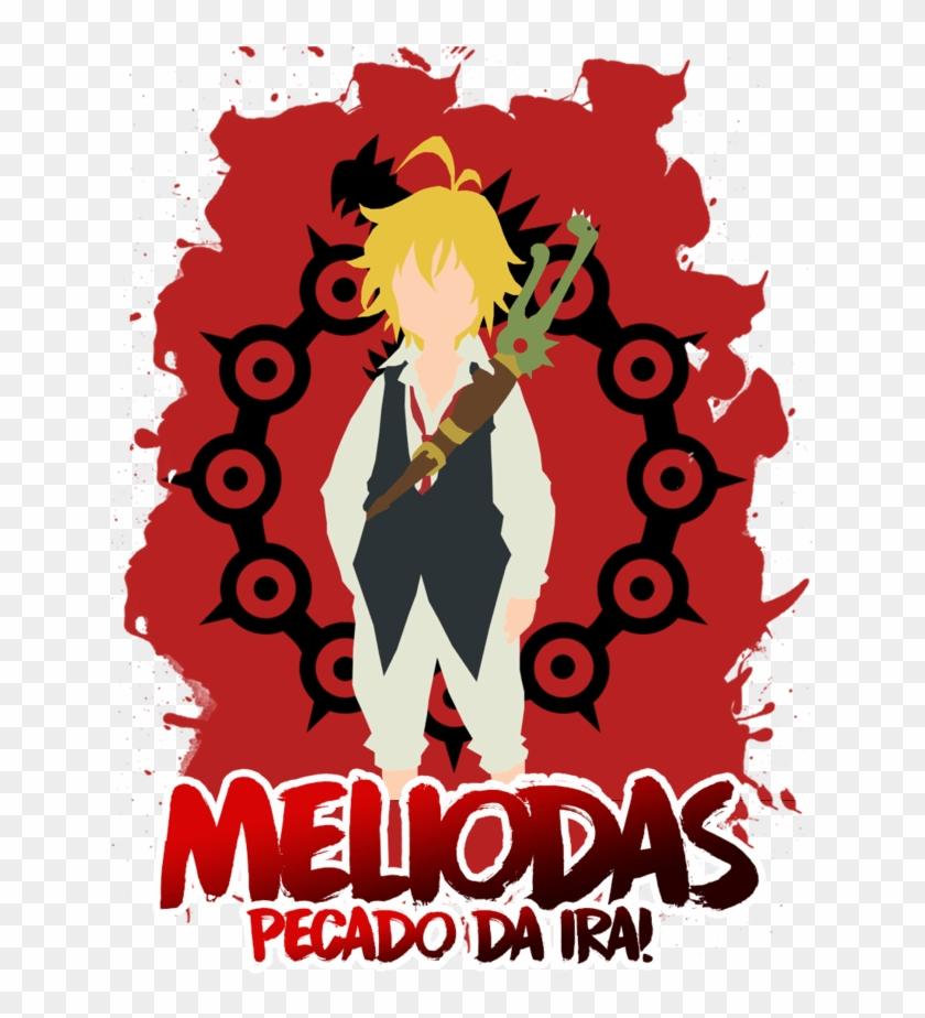 Camisa Manga Longa Meliodas Nanatsu No Taizai - Seven Deadly Sins Background Clipart #5519403